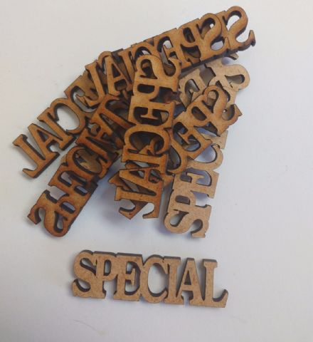 wooden craft SPECIAL shapes, laser cut 3mm mdf embellishments